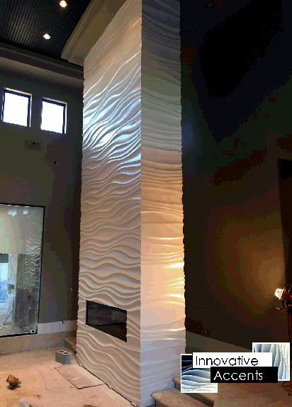 3d wall panel installation