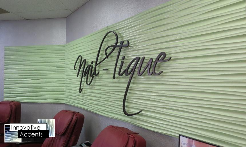 beauty shop sign, wavy beauty shop sign, 3d beauty shop sign, nail shop sign, nail shop